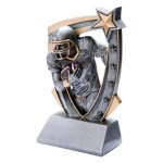 3-D Star Resin Award -Football 3D Star - Click Here for More of This Style