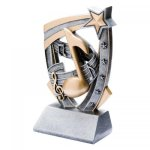 3-D Star Resin Award -Music 3D Star - Click Here for More of This Style