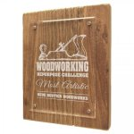 Reclaimed Wood Floating Acrylic Plaque with Magnetic Standoffs Acrylic Plaques - Click Here For More Styles