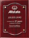 Rosewood Plaque With Floating Acrylic Acrylic Plaques - Click Here For More Styles