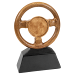 Antique Gold Steering Wheel Resin with 2 Insert Holder Car Show