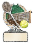 Multi Color Sport Resin Figure -Tennis Centurion Award- Click Here for More of This Style