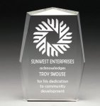 Corporate Crystal Rectangle Clear Crystal Awards - Click Here for More Styles
