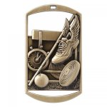 Dog Tag Medals -Track and Field DT Series - Click Here for More Of This Style