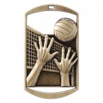 Dog Tag Medals -Volleyball DT Series - Click Here for More Of This Style