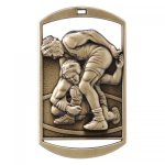 Dog Tag Medals -Wrestling  DT Series - Click Here for More Of This Style