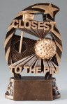 Golf Closest to the Pin Resin Trophy Golf Pro Shop