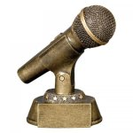 Gold Microphone Award Misc. Gifts - Click Here For More Items