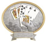 Legend Oval Award -Texas Hold'em Oval Resins - Click Here for More of This Style