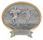 Legend Oval Award -Flag Football Oval Resins - Click Here for More of This Style