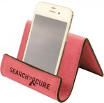 Leatherette Holder/Easel -Pink Phone & Tablet Accessories - Click For More Colors