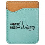 Leatherette Phone Wallet -Teal Phone & Tablet Accessories - Click For More Colors