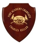 Rosewood Piano Finish Shield Plaque Award Rosewood Piano Finish - Click Here For More